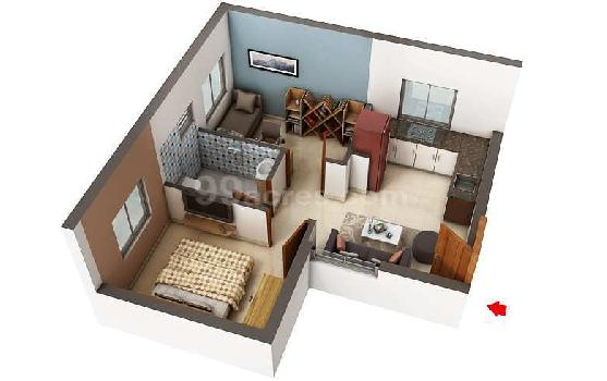 1 BHK 511 Sq.ft. Residential Apartment for Sale in Thiruporur, Chennai