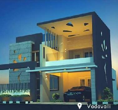 3 BHK 2200 Sq.ft. Residential Apartment for Sale in Vadavalli, Coimbatore