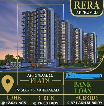 3 BHK 646 Sq.ft. Residential Apartment for Sale in Sector 75 Faridabad
