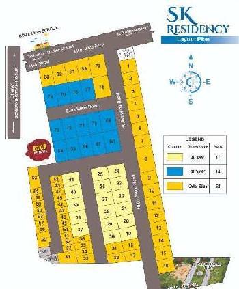 1130 Sq.ft. Residential Plot for Sale in Kelamangalam Road, Hosur