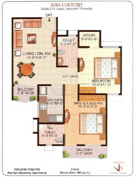 2 BHK Flats & Apartments for Sale in Jwalapur, Haridwar - 35 Acre