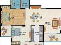 2 BHK 1270 Sq.ft. Residential Apartment for Rent in Crossings Republik, Ghaziabad