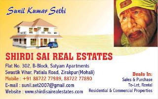 3 BHK Flat for Rent in Swastik Vihar, Zirakpur