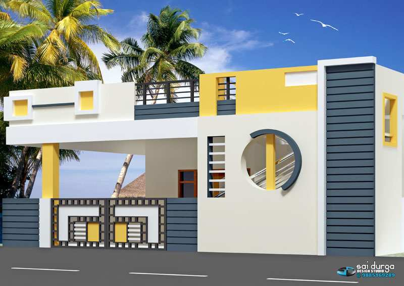 South Facing Ground Floor Elevation : Bhk individual house home for sale at chinnamusidivada