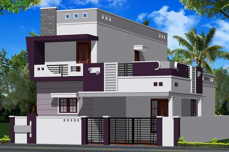 3 bhk individual house home for sale at kovaipudur for Individual house front elevation