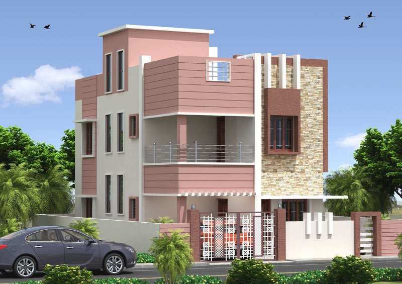 3 bhk bungalows villas for sale at uttara bhubaneswar for House front side wall design