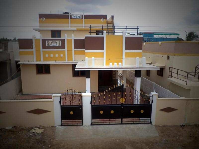 Home Front Elevation Pictures In Nadu : Bhk individual house home for sale at coimbatore suburb