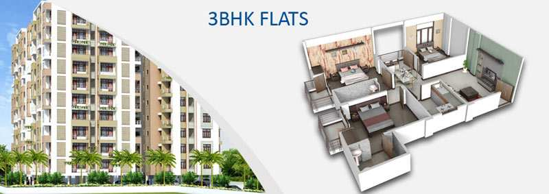 3 Bhk Flats & Apartments for Sale in Alwar Bypass Road, Bhiwadi - 1250 Sq.ft.