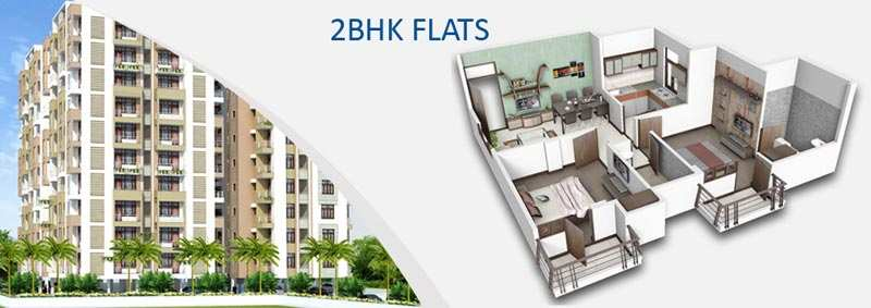 2 BHK Flats & Apartments for Sale in Alwar Bypass Road, Bhiwadi - 975 Sq.ft.