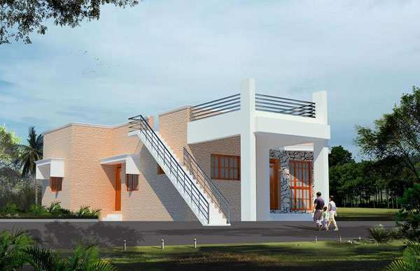 House portico designs in tamilnadu house design for Tamilnadu house designs photos