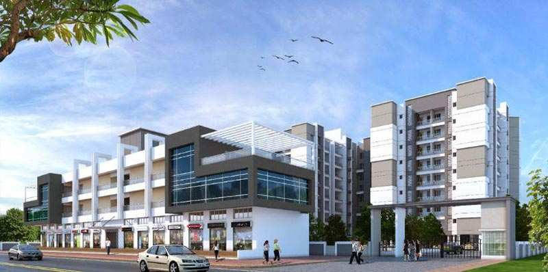 2 BHK Flats & Apartments for Sale in Dhanori, Pune - 915 Sq.ft.