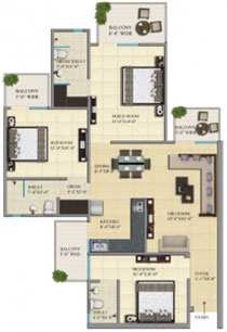 3 BHK Flats & Apartments for Sale in Greater Noida West, Greater Noida - 1470 Sq.ft.