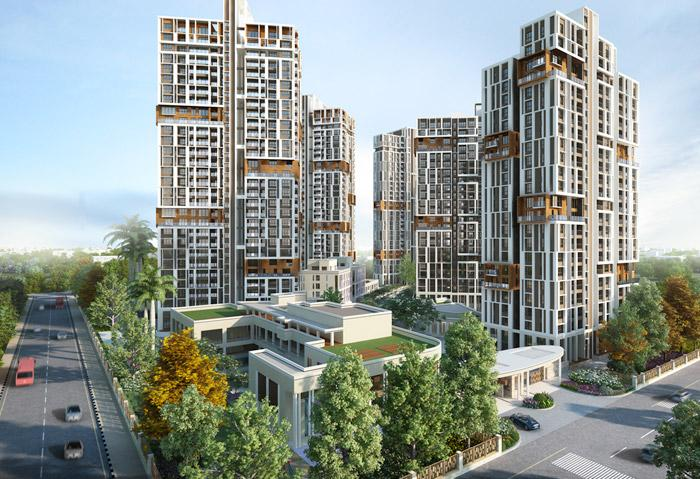 3 BHK Flats & Apartments for Sale in New Town, Kolkata - 961 Sq. Feet