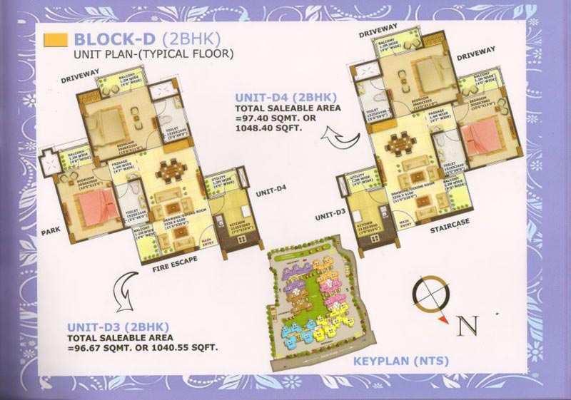 2 BHK Flats & Apartments for Sale in Preetam Nagar, Allahabad - 1040 Sq. Feet