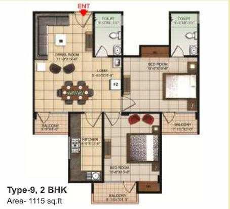 2 BHK Flats & Apartments for Sale in Dhanuha, Allahabad - 1115 Sq. Feet
