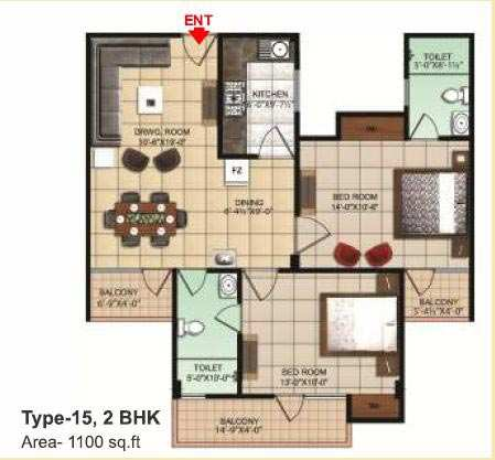 2 BHK Flats & Apartments for Sale in Dhanuha, Allahabad - 1100 Sq. Feet