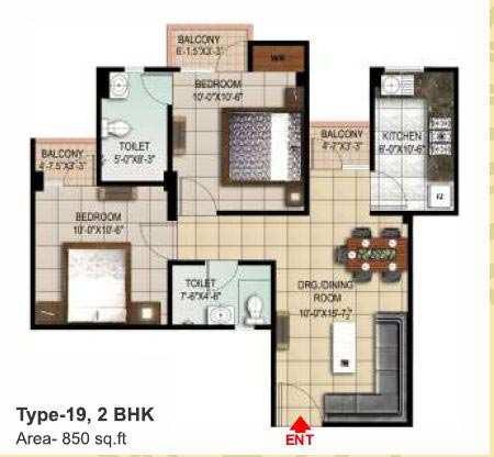2 BHK Flats & Apartments for Sale in Dhanuha, Allahabad - 850 Sq. Feet