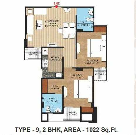 2 BHK Flats & Apartments for Sale in Naini, Allahabad - 1022 Sq. Feet